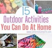 15 Outdoor Activities You Can Do at Home