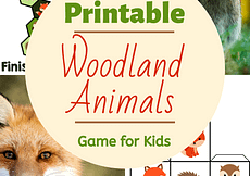 Woodland Animals Printable Game for Kids