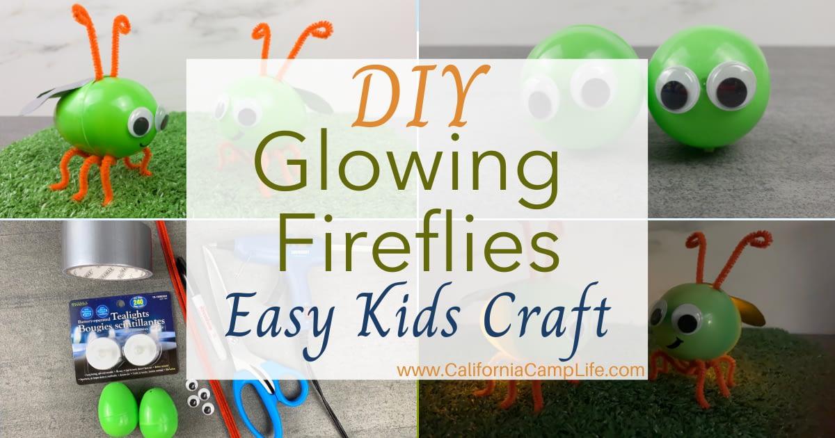 Glowing Fireflies Easy Kids Craft