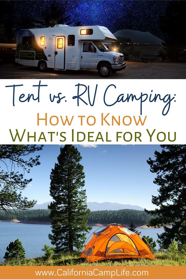 Tent vs. RV Camping