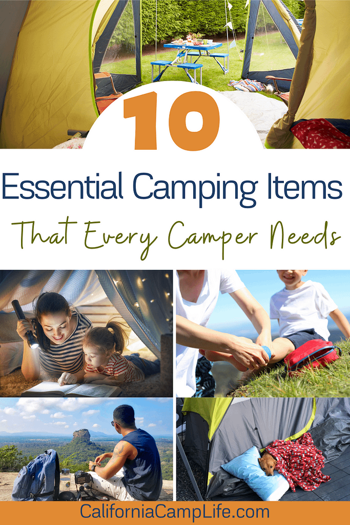 10 Essential Camping Items that Every Camper Needs Collage
