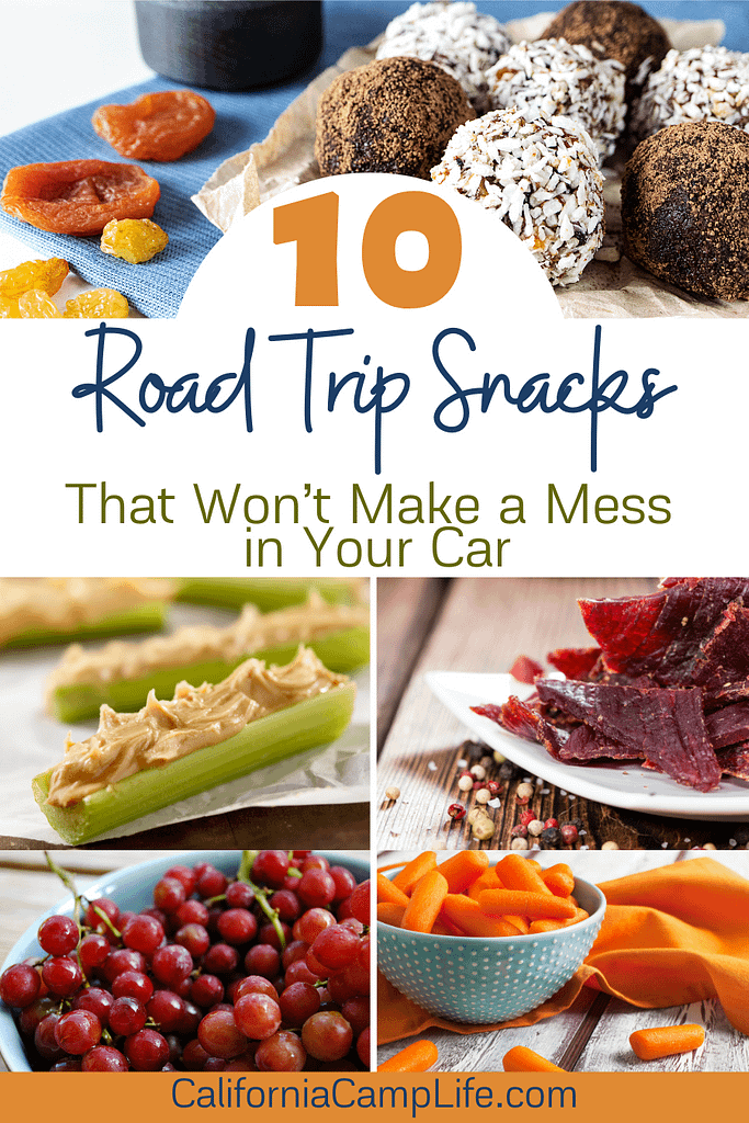 Road Trip Snacks That Won't Make a Mess In Your Car Banner