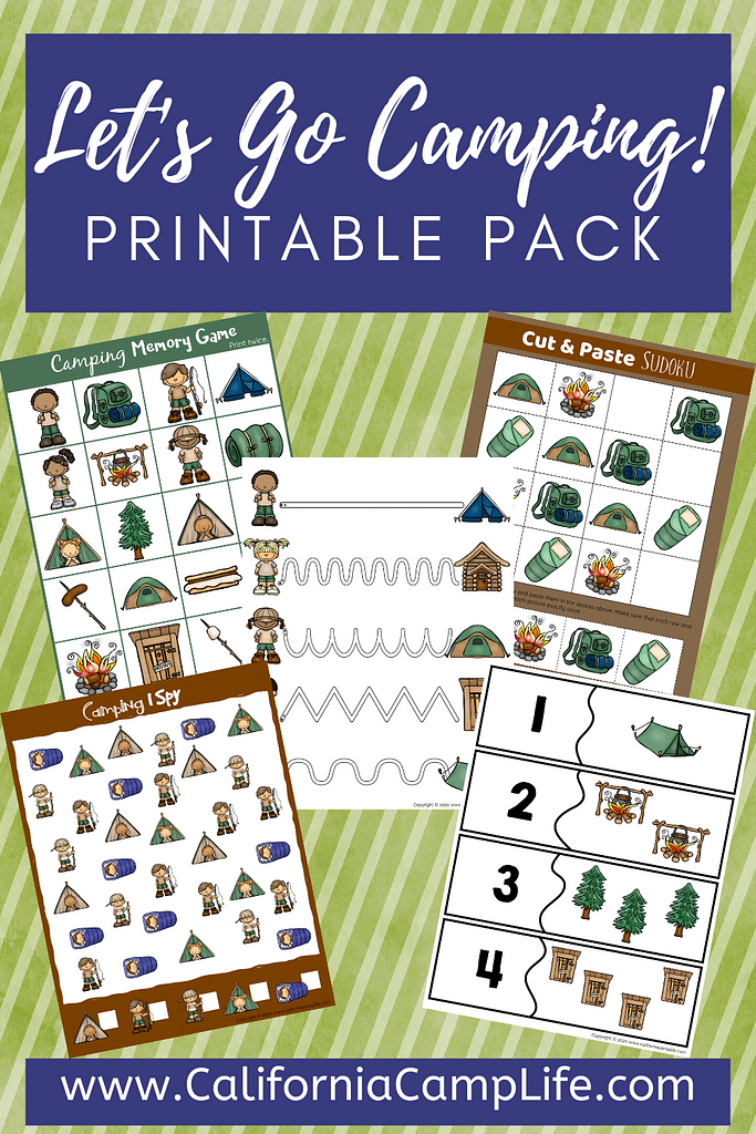 Let's Go Camping Printable Pack for Kids