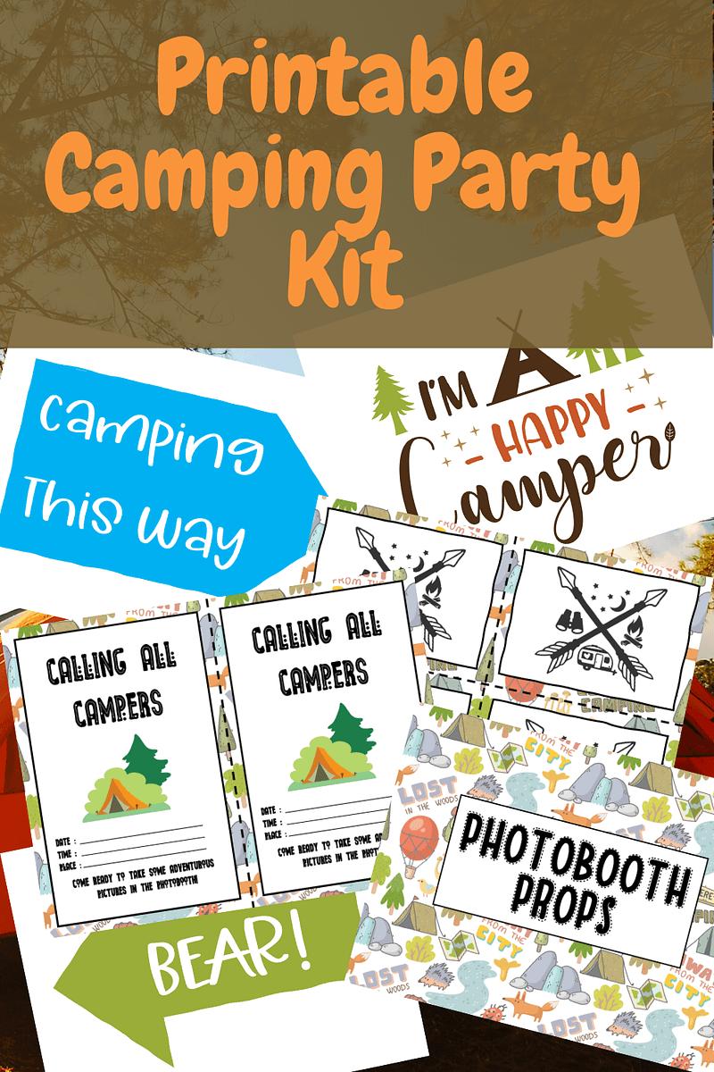 Printable Camping Party Kit Pin Tara