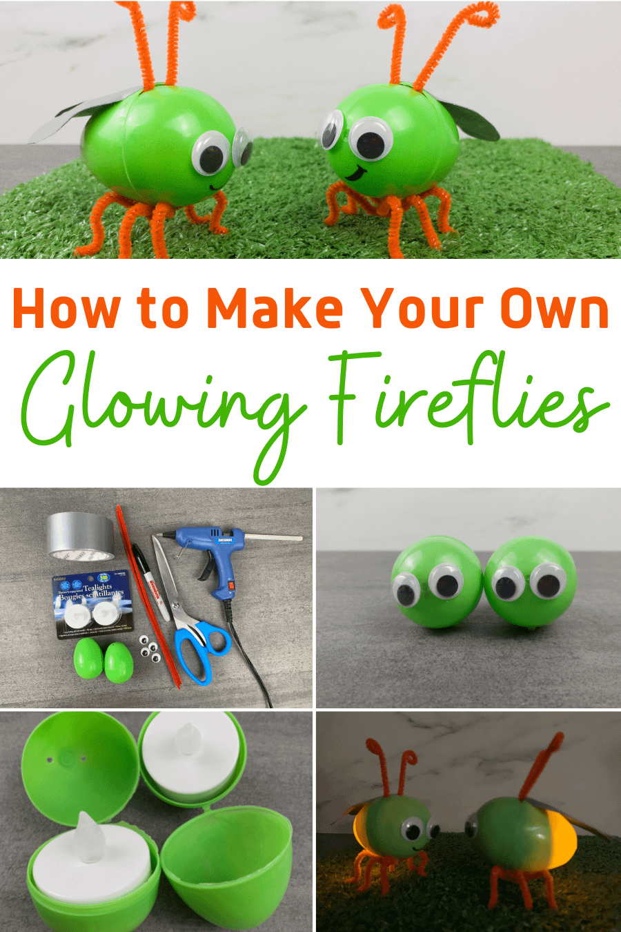 How to Make Your Own Glowing Fireflies - Easy Kids Craft