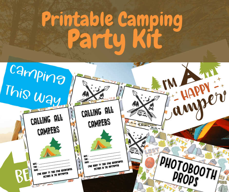 Printable Camping Party Kit